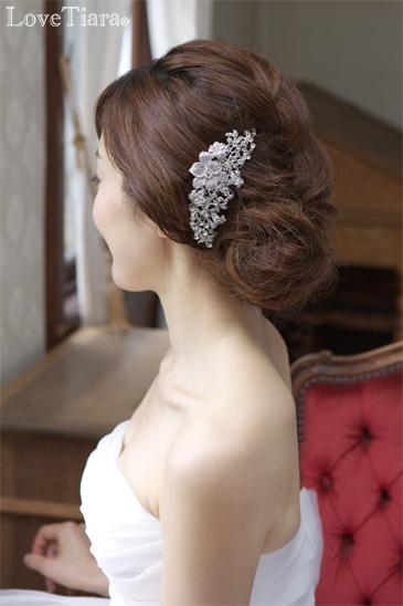 結婚式 ブライダル ウェディング ヘッドドレス 髪飾り コーム ビジュー