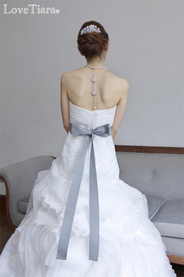 結婚式 ウェディング ブライダル ネックレス バックスタイル パール