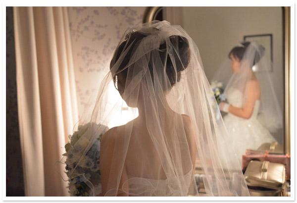 花嫁様お写真【ショートベール【メロウ】/オーガンジーグローブ【クラウディア】】